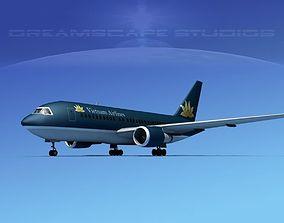 3D model rigged Boeing 767-200ER Vietnam