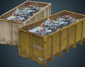 Garbage Container 3B 3D asset