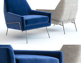 Peachy Lucas Swivel Base Chair By West Elm 3D Cgtrader Machost Co Dining Chair Design Ideas Machostcouk