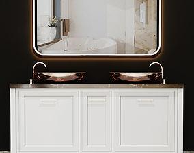 3D Bathroom washbasin