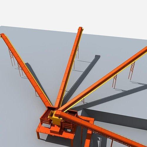 mining machinery 3d model max obj