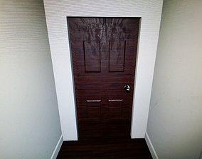 Simple Door With Frame 3D asset
