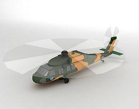 3D model UH 60 Blackhawk Helicopter LOW