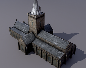 Church St Johns Kirk in Perth 3D asset low-poly