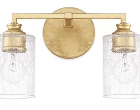 Wall lamp gold 3D