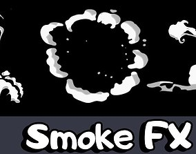 3D model Smoke FX Effects Sprite Sheet Cartoon Stylized