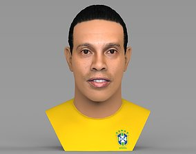 Ronaldinho bust ready for full color 3D