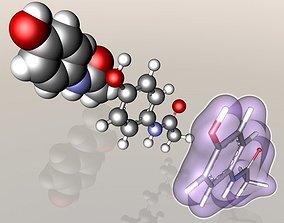 Paracetamol molecule 3D