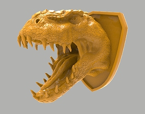 3D printable model Dinosaur head wall decoration