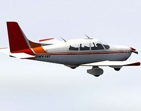 Piper Cherokee Light Aircraft 3D model