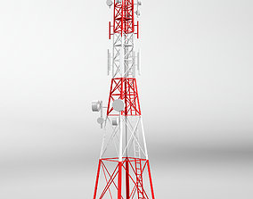 Telecommunication tower model 3d