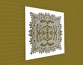 Mandala ornament architectural 3D