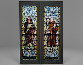 3D model Catholic Church Stained Glass Window
