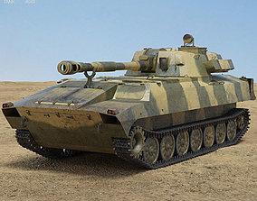 howitzer 3D model 2S1 Gvozdika