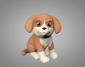 Puppy 3D asset animated