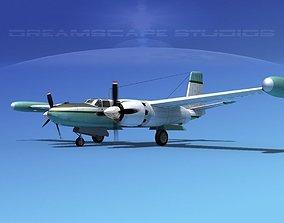 Douglas B-26 Marketeer V04 3D model