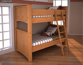 3D model Ashley Stages Twin Bunk Bed