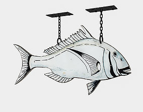 3D model fishing sign 02