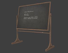 School Blackboard 3D model