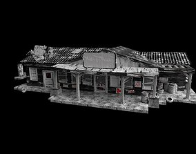 Old Gas Station 3D model game-ready