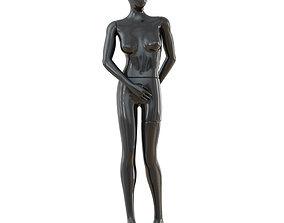 3D model Female Black Mannequin 45