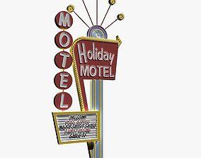 Motel Sign 3D