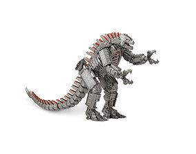 3D model creature Mechagodzilla HIGH POLY not textured