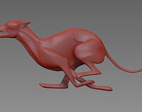 Running Whippet statue 3D print model