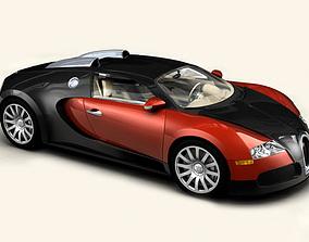 Bugatti Veyron 3D model vehicle