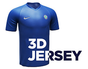 Jersey Shirt 3D model with 4K textures