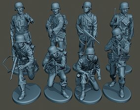 3D model German soldiers ww2 G2 Pack1