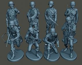 3D model German soldiers ww2 G2 Pack1