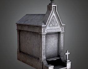 CEM - Cemetery Mausoleum 4 - PBR Game Ready 3D asset
