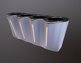 Futuristic trash can 3D asset