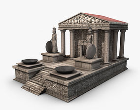 3D asset Ancient greek temple