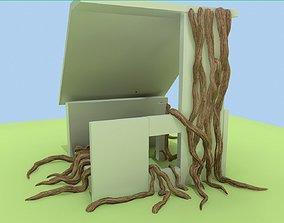 3D asset Thick lians and roots set PBR