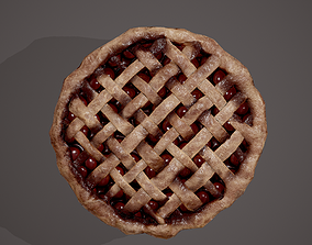 Medieval Style Cherry Pie 3D model