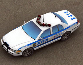 Police Car NYPD 3D model low-poly