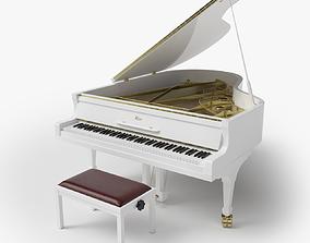 Grand Piano White 3D model