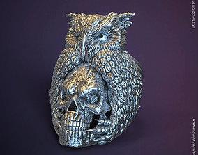 SKull and owl vol1 ring 3D printable model