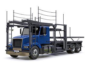 Car Carrier Trailer 3D asset