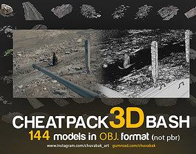 CHEATPACK 3DBASH PART1 GRASS GROUND ROCKS