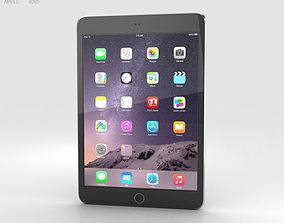 Apple iPad Mini 3 Space Grey 3D model