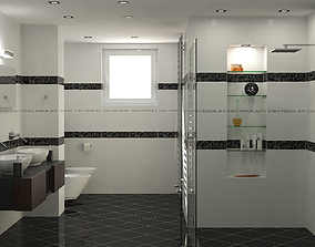 Photorealistic Bathroom Scene 01 3D model
