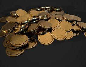 3D model gold coin - yen design A