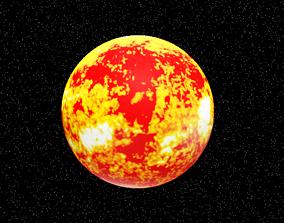 The Sun 3D asset animated