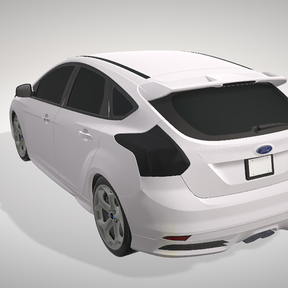 ford 2012 low poly mobile