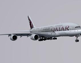 Airbus A-380 Qatar 3D asset