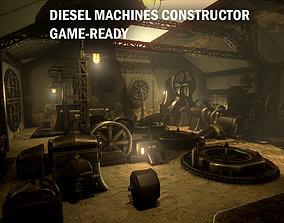 Diesel machines constructor 3D asset