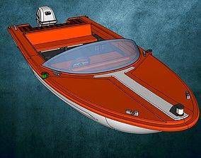 3D printable model Motorboat Aqua Sports